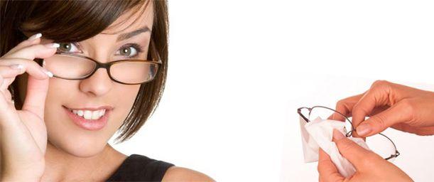 Cuidado de anteojos y lentes de contacto