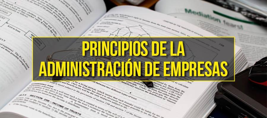 Principios de la administración de empresas