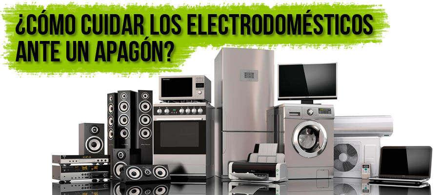 Cómo cuidar los electrodomésticos ante un apagón