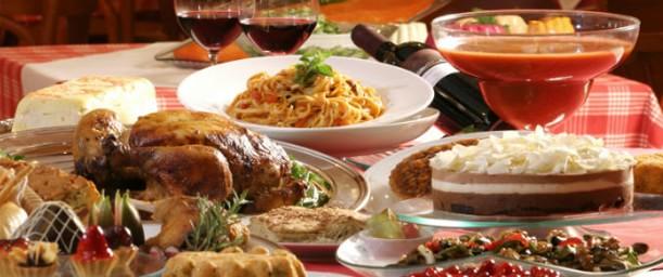 La importancia del menú, la comida en una fiesta